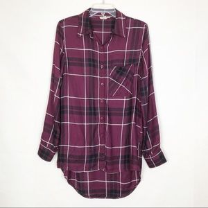 Rebellion Flannel Button Down Long Shirt